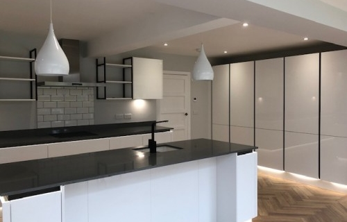 Herringbone Floor, New Handless Kitchen - all works by LG Blower