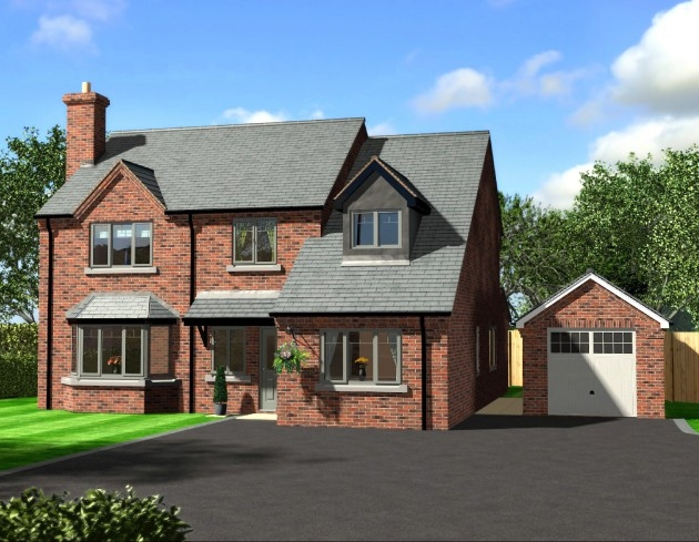 Artist Impression of New Build, featuring 4 bedrooms & detached garage