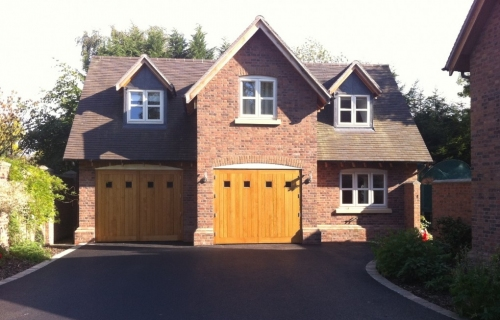 Annex for New Build,  Shrewsbury, Shropshire  features Oak Electric Doors