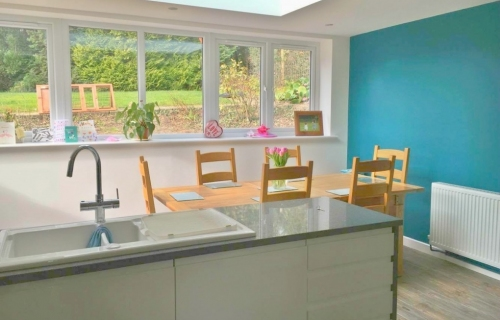 Kitchen/dining room extension completed and finished by L G Blower