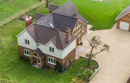 Birds eye view of a renovation completed near Chester