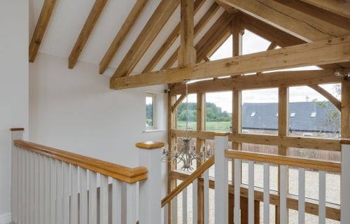 Bespoke oak beams and staircase