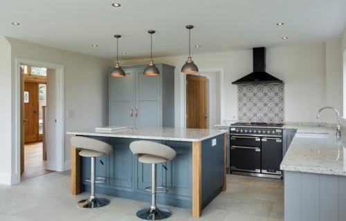 Family kitchen with bespoke kitchen