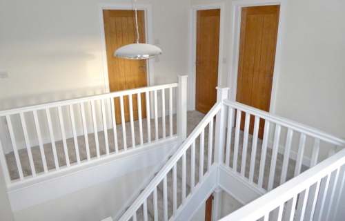 Gallery landing with Painted Staircase