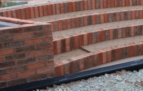 Curved Brick Steps